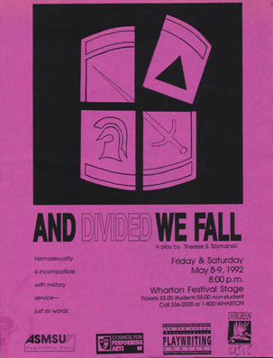 Poster from world premiere of And Divided We Fall