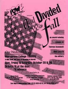 Poster from the 1994 POW revival of And Divided We Fall.